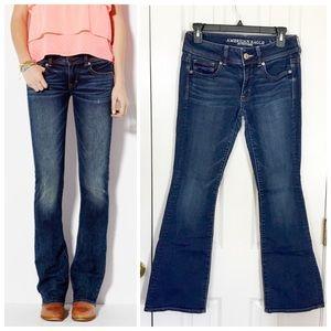 American Eagle Kick Boot dark wash jeans
